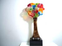 grote glazen urn gedenk boom