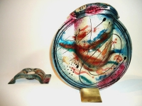 glazen urn met gedenklichtje