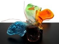 kleine vlinder urn in glas