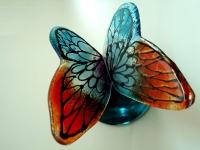 moderne vlinder urn kleur klein