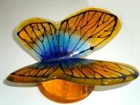 vlinder urn abstract modern glas